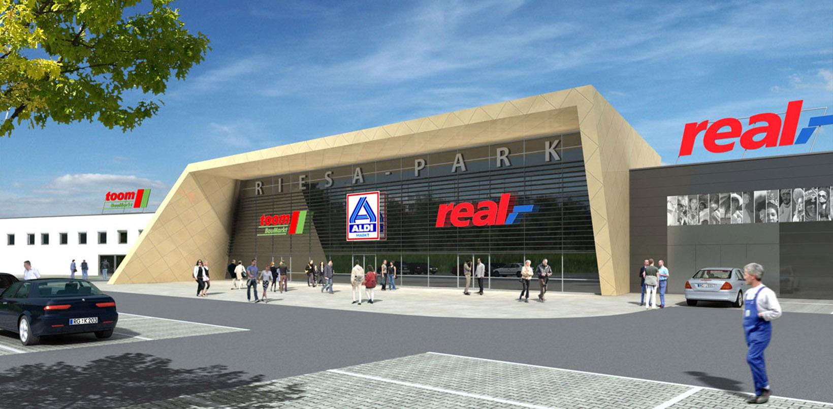 Architekt Christ Einkaufscenter Riesa Park 2