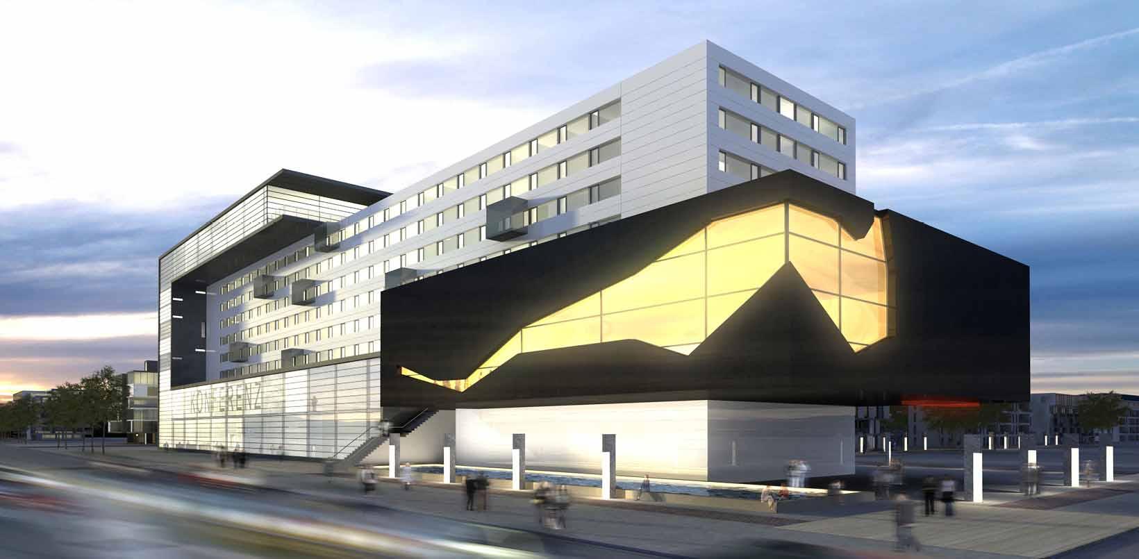 Architekt Christ - Wettbewerb Konferenzhotel Nürnberg 2